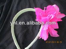 OOAK ribbon wrapped exotic flower headband - fuchsia flower headband - floral headband handmade