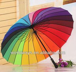 24 color rainbow umbrella , 24 panels umbrella , 24 rib umbrella