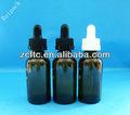 30ml cor âmbar garrafas de vidro com conta-gotas, venda quente de vidro pequeno frasco para embalagens de cosméticos