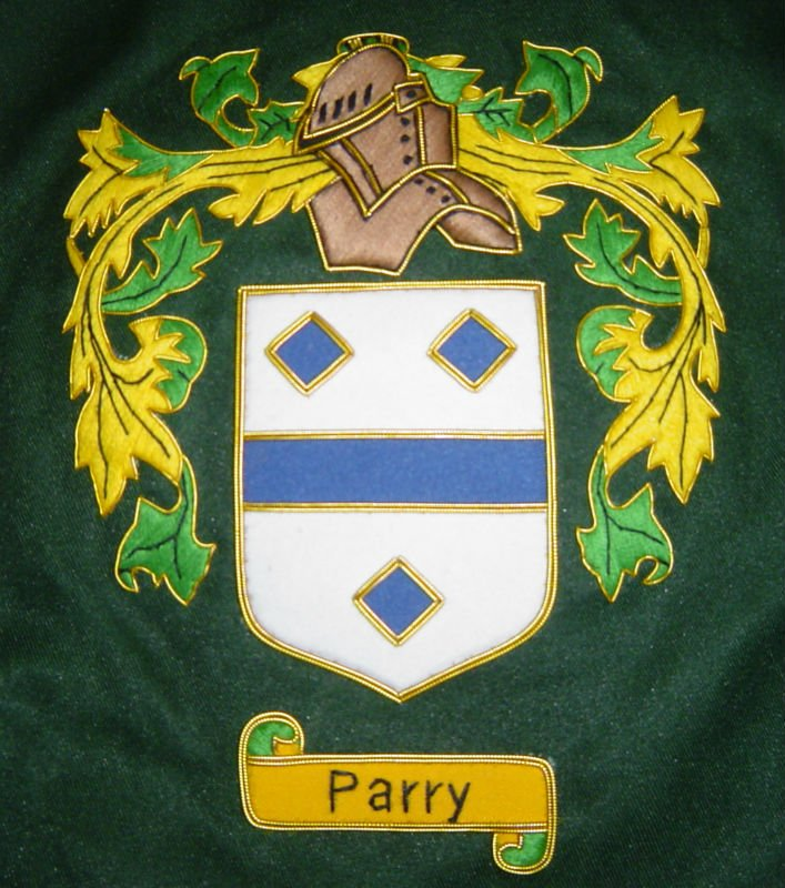 Blazer Coat of Arms Geoffrey | Parry Coat of Arms