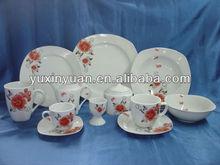 Dinnerware plate porcelain rose