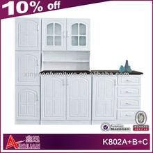 K802A+B+C elegant wooden pantry italian kitchen furniture
