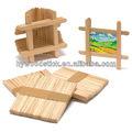 Bricolage enfant couleur naturelle d'artisanat en bois bâton
