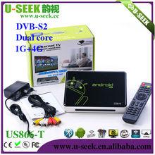 U-Seek Android 4.0 1080p android tv box dvb t2 1GB/4GB WiFi android tv box US866-T