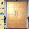 zhejiang afol de madera de teca de la puerta doble de diseño