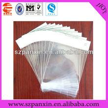 Manufacturing! plastic resealable header opp self-adhesive bag
