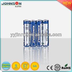 alkaline LR6 1.5V AA high voltage battery