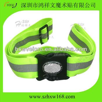 Fluorescent Yellow Reflective Elastic adjustable armband