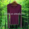 women's silk feeling plain long sleeve tight 100% bamboo fibre underwear