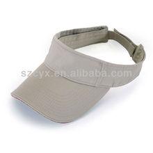 blank grey washed cotton sun visor /visor hat with sandwich