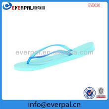 green sole thin blue strap brand women flip flops