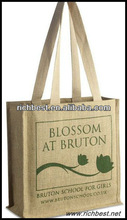 recycled bamboo handle cheap jute shopping bags