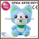 Mini stuffed animal keychains plush cat toy