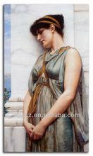Greece lady handmade oil painting