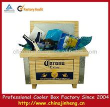 wooden outdoor cooler holder