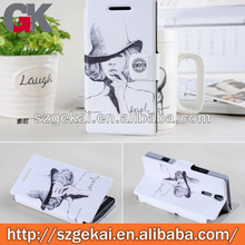leather flip case for sony xperia s lt26i