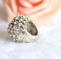elastic string love hope faith ring index finger rings