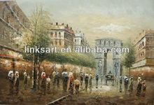 palette knife oil paintings paris street scenes Triumphal arch