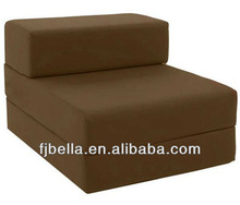 COTTON Single Chair Chocolate Bed Z Guest Fold Out Futon Foam Folding Chair Bed Sofa Chairbed Matress foam