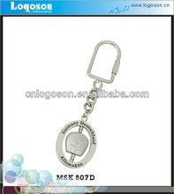 Presell Kirsite Silver Matt Elegant Spinning Key chain