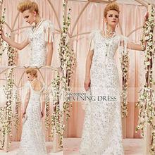 Wholesale Coniefox Graceful White Lace Evening Gowns