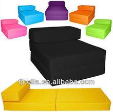 Block Foam Filled Folding Chair Bed Z Guest Futon In/Outdoor
