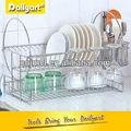 cozinha do aço inoxidável dupla cremalheira de prato