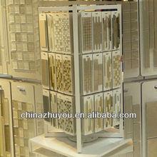 Metal tile sample board glass display board hanging display rack