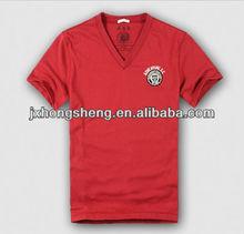 hot sale promotional deep v neck t-shirt for men