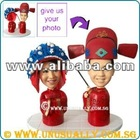 PERSONALIZED 3D TRADITIONAL CHINESE WEDDING COSTUME COUPLE LOVELY FIGURINES - UNUSUALLY