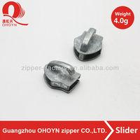 wholesale zipper slider head, zinc alloy metal slider head for bags/garments