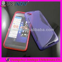 S design gel cell phone cases manufacturer for Blackberry Z30