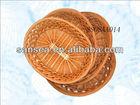round willow storage basket