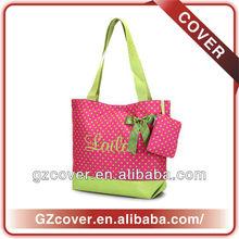 Tote pink girly travel bag/folding bag