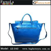 Blue Fashion Elegant Genuine leather ladies fancy items(AX-040)