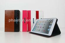 Luxury leather case for iPad mini, For iPad mini case cover, Fashion smart case for ipad mini