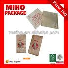greaseproof kraft food paper bag/kraft paper bread bag/white kraft paper food bag