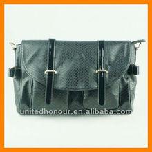 Snakeskin handbag/black tote bag/fashion style handbag 2014