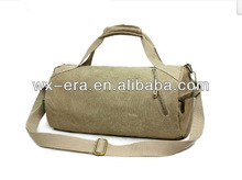 Popular Khaki Canvas Travel Bag Luggage Tote Bag