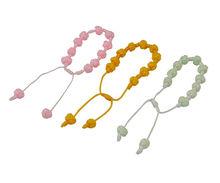 fabric rose ball bracelet