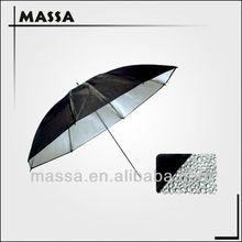 33inch 84CM Studio Flash Light Reflective Reflector Grained Black & Silver Umbrella