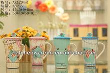 2013 Haonai popular products,3d animal design ceramic mugs