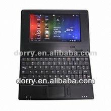 7'' android4.1 VIA8850 laptop ,512MB/4GB /800x480 pixels/Camera 0.3 Mega pixels/ In focus Audio,Build-in 0.5W*2 stereo speaker
