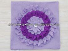 Yantai 45x45cm stamp fur cushion cover (chamois backing)