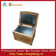 wooden ice cooler chest 60Liter