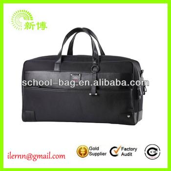 Latest design black simple travel bag