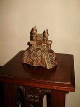 Peruvian handicrafts with the replica of the Castle of Chancay - Peru.