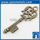 custom made metal retro decoration personalized key shape