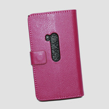 High Quality Book Card PU Wallet Leather Mobile Phone Case for Nokia Lumia 920