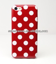 Polka dot design soft for IPHONE 5C TPU case,various color avaliable!